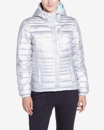 Hyba Silver Quilted Coat