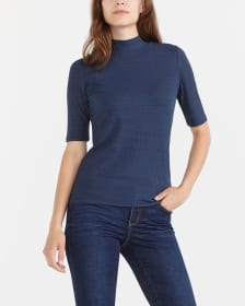 Elbow Sleeve Solid T-Shirt
