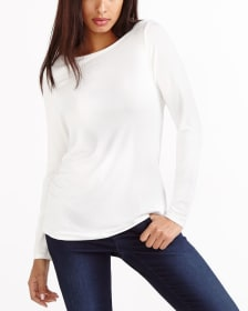 R Essentials Long Sleeve Solid Top