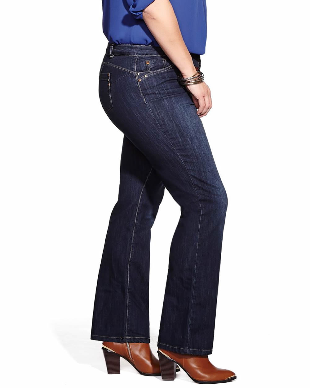 Plus Size Slight Boot Cut Push-Up Jeans | Plus Sizes | Reitmans