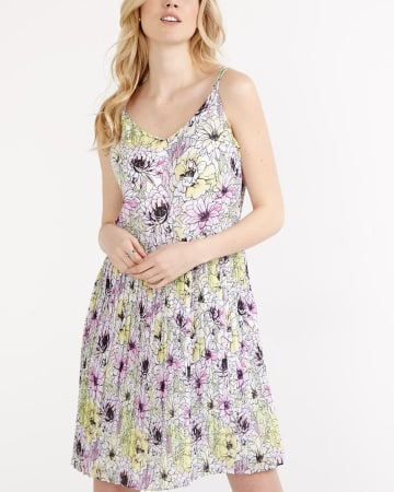 Willow & Thread Sleeveless Printed Dress