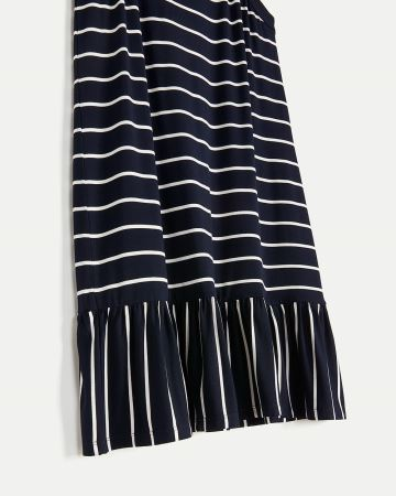 Sleeveless Halter Neck Striped Dress