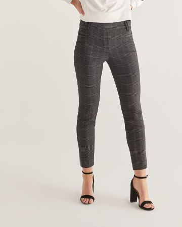The Iconic Plaid Pull On Ankle Pants - Petite