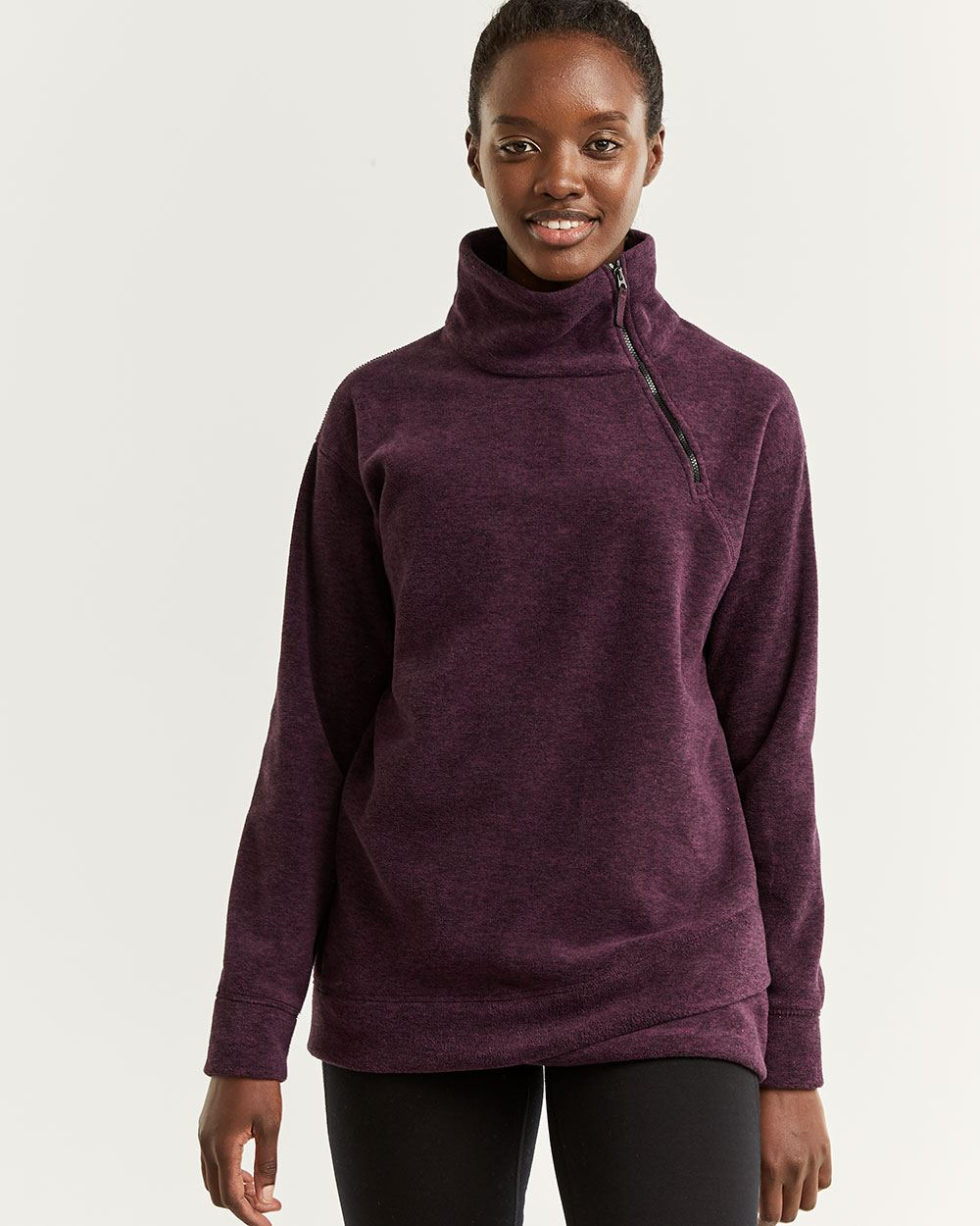 Hyba Thermal Fleece Mock Neck Sweater