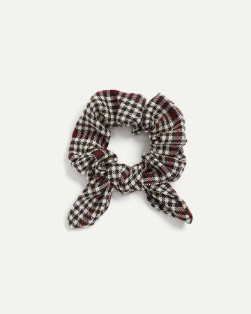 Plaid Scrunchie with Bow