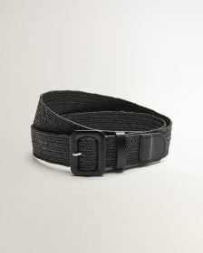 Faux-Leather Weaved Belt