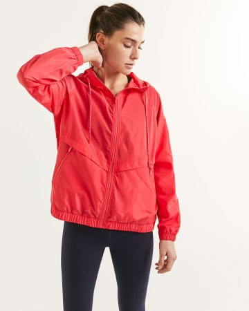 Packable Hooded Windbreaker Jacket Hyba