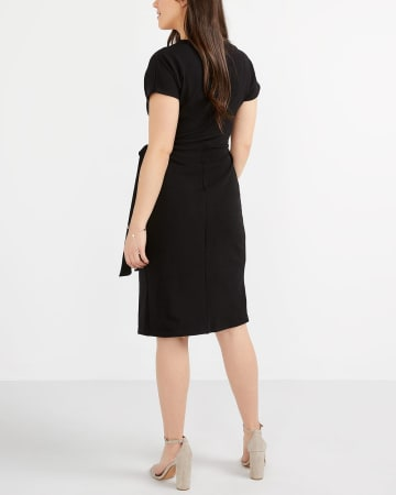 Short Sleeve Wrap Dress