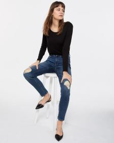 The Tall Insider Rip Medium Wash Skinny Jeans