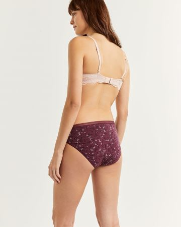 Printed Cotton High Waist Panty