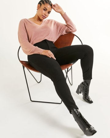 Super High Rise Skinny Black Jeans The Curvy