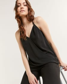 Sleeveless Wrap V-Neck Top