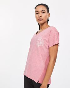 Hyba Mix Media Short Sleeve Tee