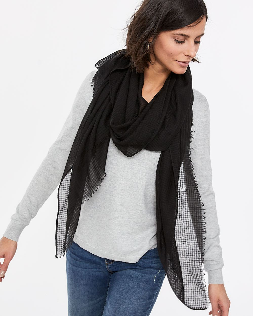 Sheer Textured Scarf