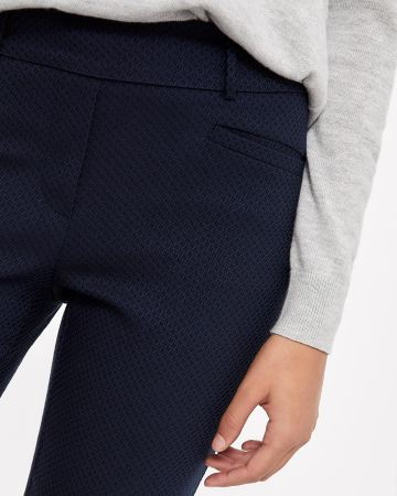 The Iconic Straight Leg 2-tone Jacquard Pattern Pants