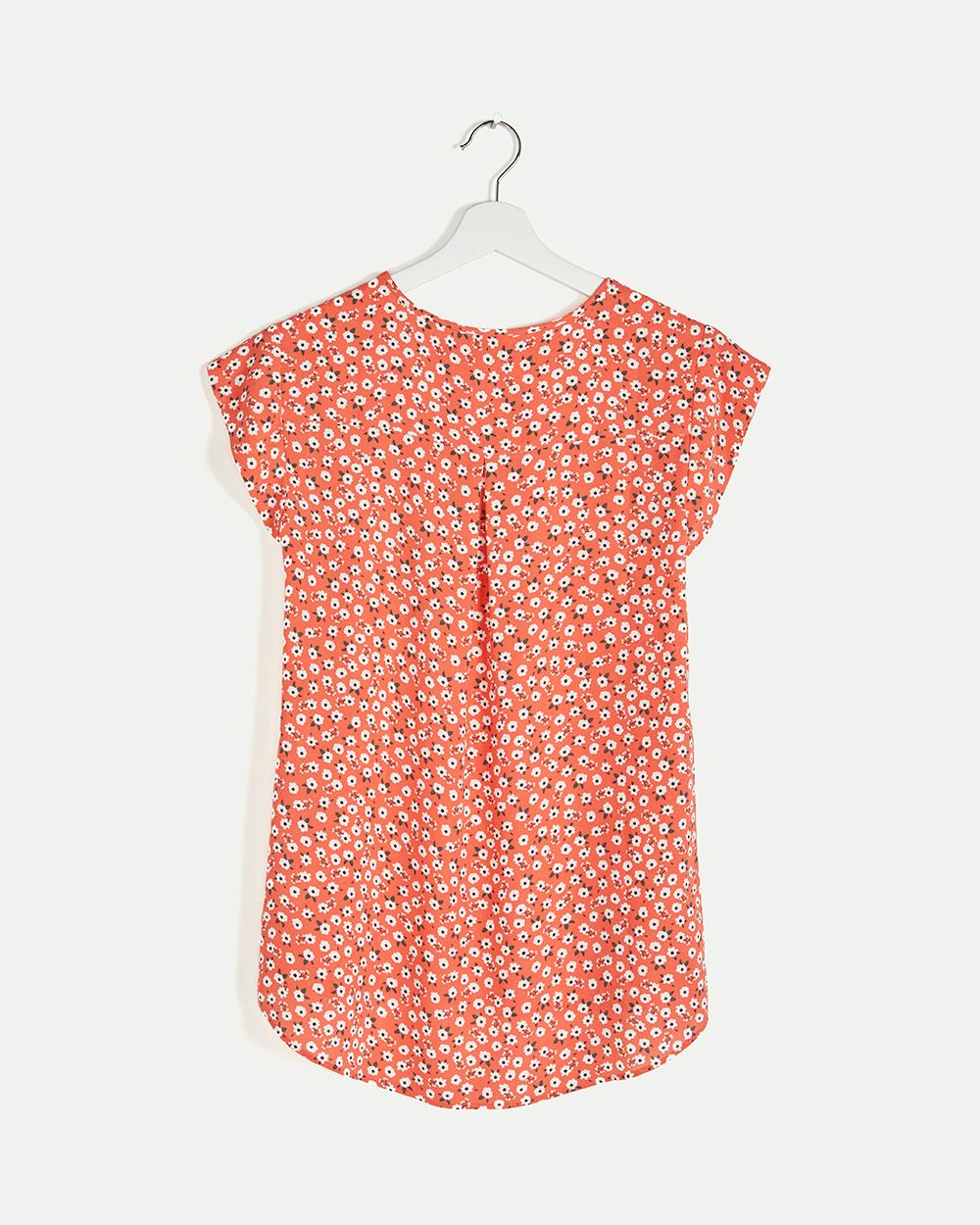 Cap Sleeve Printed Blouse R Essentials