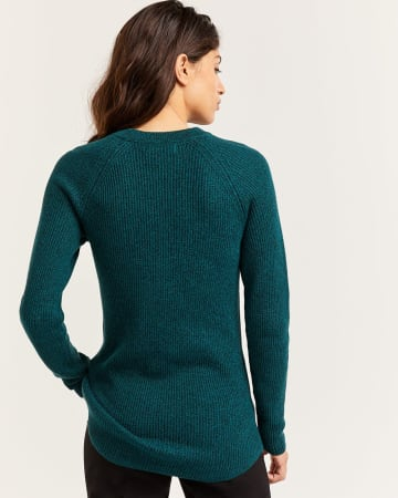 Cotton Ribbed Sweater Tunic