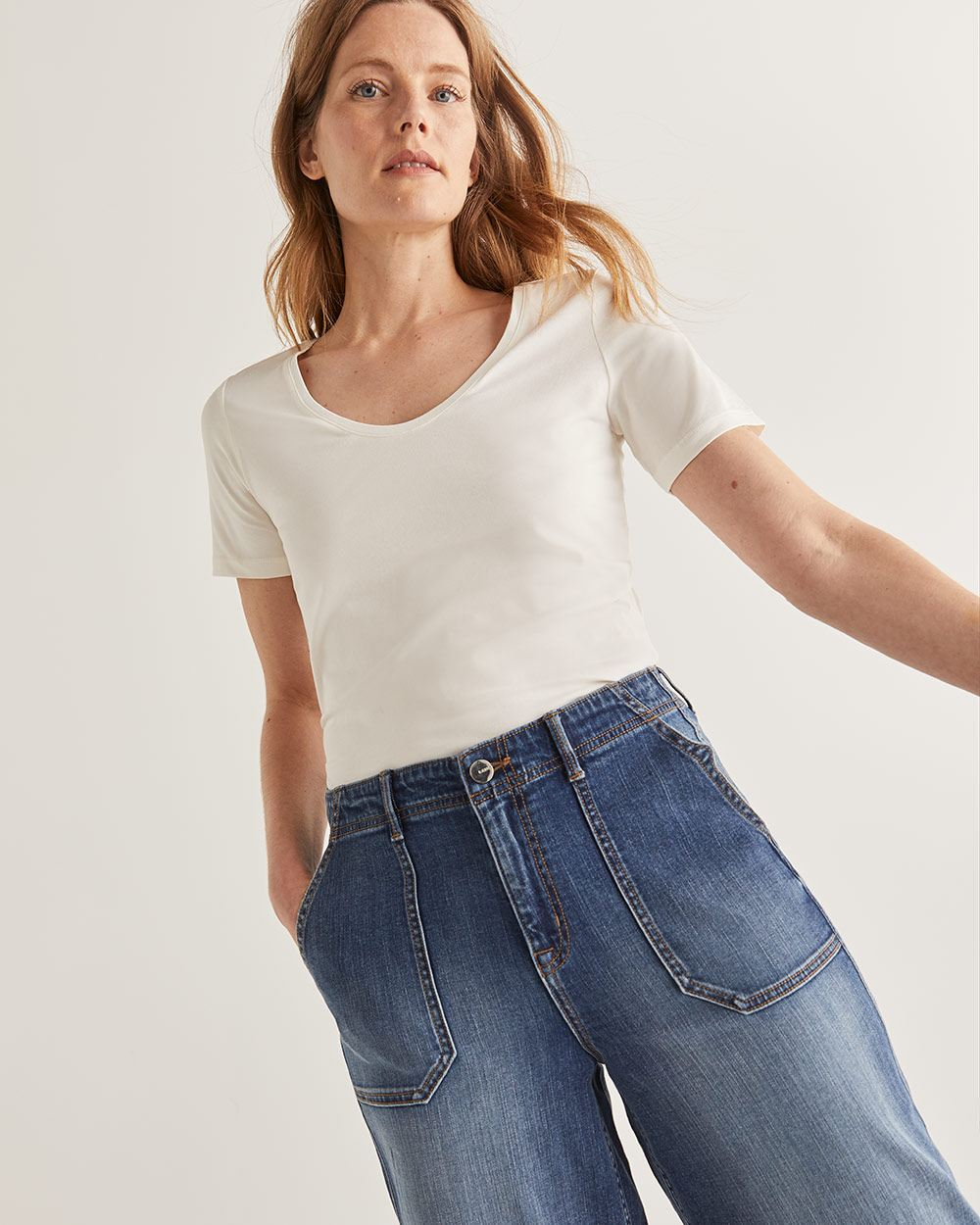 Willow & Thread Pima Cotton White Tee
