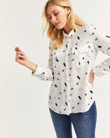 Printed Shirt with Patch Pockets