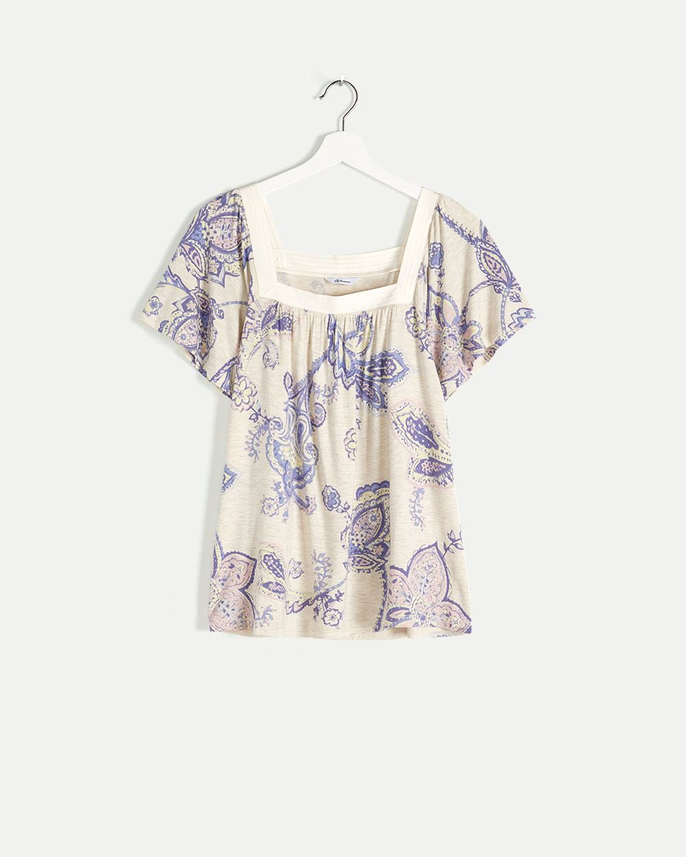 Square Neck Printed Tee