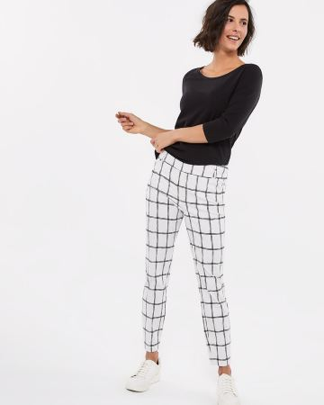 The Petite Iconic Skinny Checkered Ankle Pants