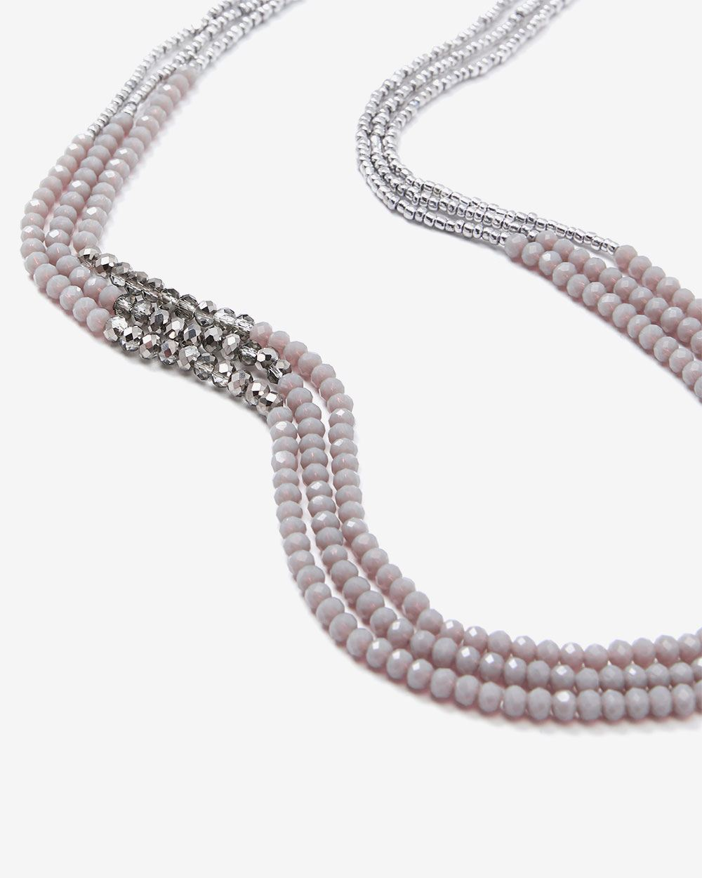 3-row Faceted Beads Necklace