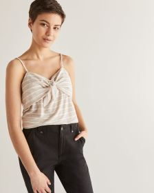 Front Knot Stripe Cami