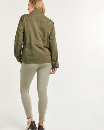 Mock Neck Jacket with Sash