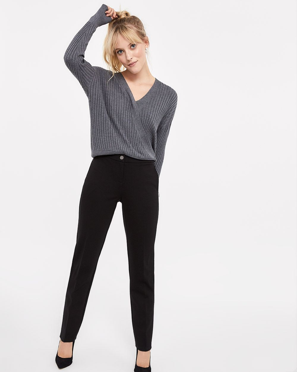 The Petite Modern Stretch Straight Leg Pants