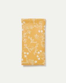 Yellow Floral Sunglasses Case