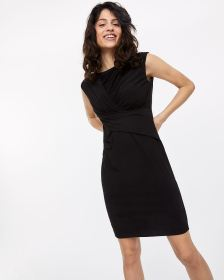 Twist Front Fitted Dress