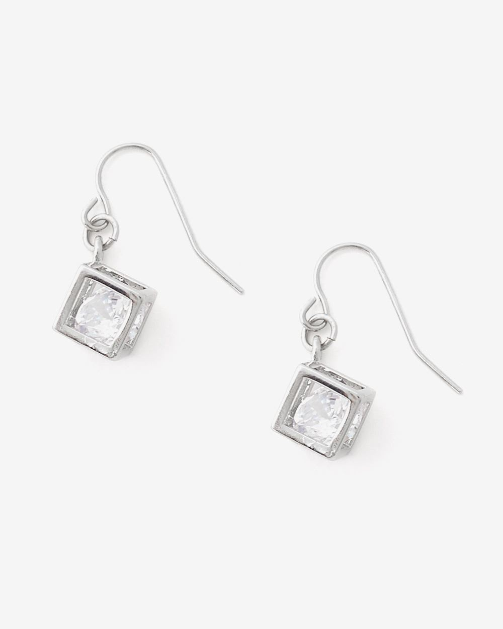 Cube Crystal Drop Earrings