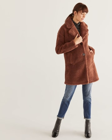 Loose Sherpa Coat