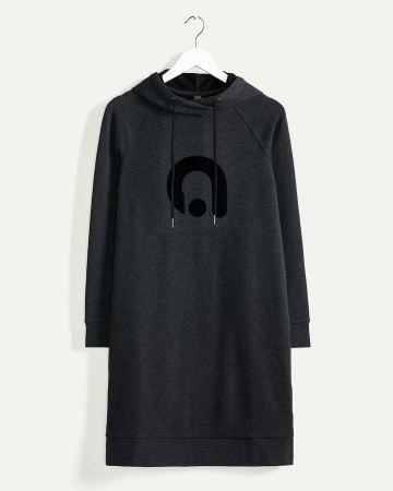 Long Raglan Sleeve Hooded Dress Hyba