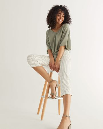 The Iconic Stripe Capris