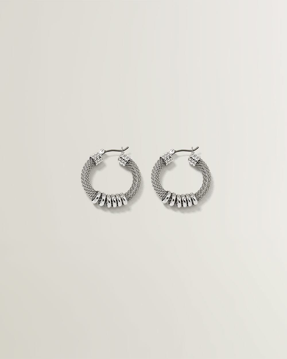 Small Mesh Hoop Earrings