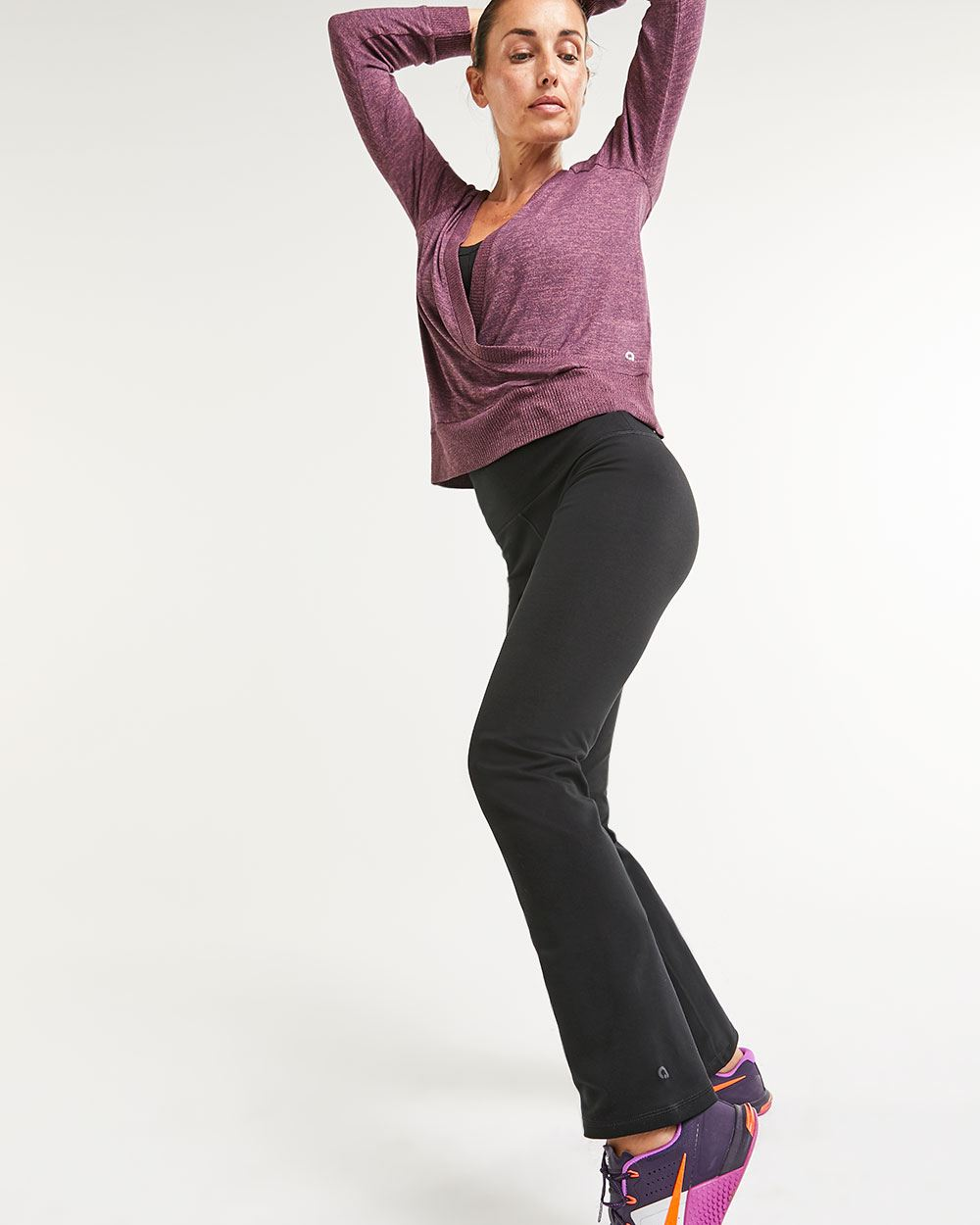 Cotton Blend Straight Pants Namaste Hyba
