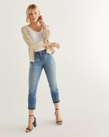 The Insider Cropped Skinny Jeans with Released Hem