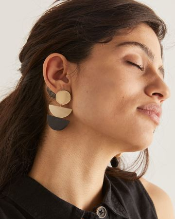 3-Piece Geometric Drop Earrings