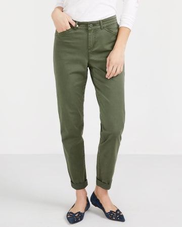 Petite Solid Slim Leg Chino Pants