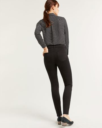 High Waist Skinny Black Jeans The Signature Soft - Tall