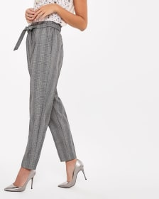 Checkered Paper Bag Pant