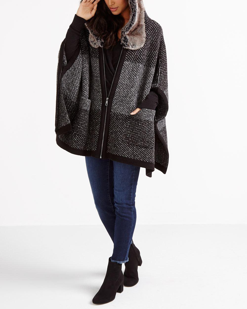 6d40b6f86 Faux-Fur Hooded Poncho | Women | Reitmans