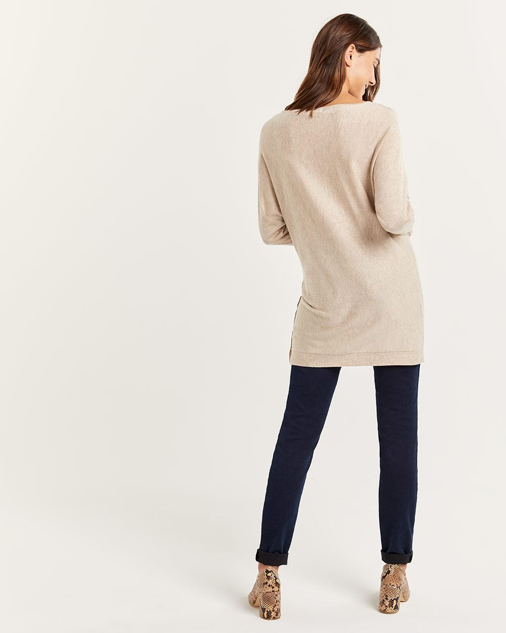 Boat Neck Tunic Sweater