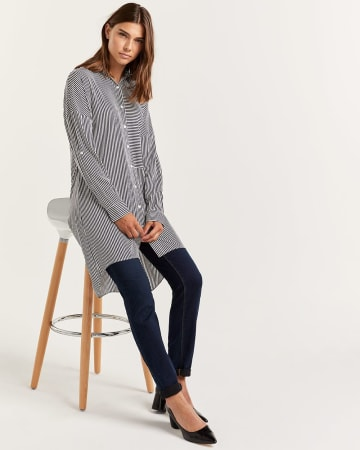 Long Sleeve Striped Tunic