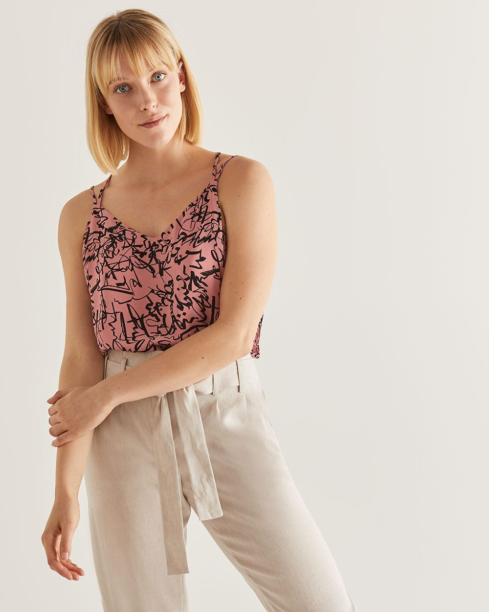 Willow & Thread Double Strap Printed Cami