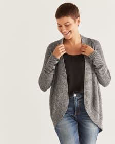 Long Sleeve Marled Cocoon Cardigan