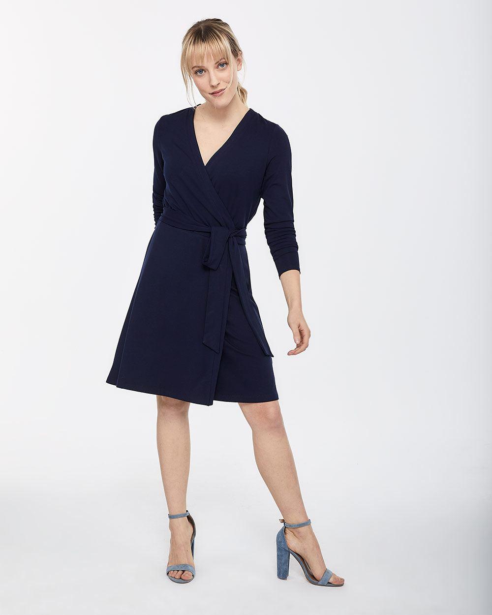 915c60690 Long Sleeve Wrap Dress | Regular | Reitmans