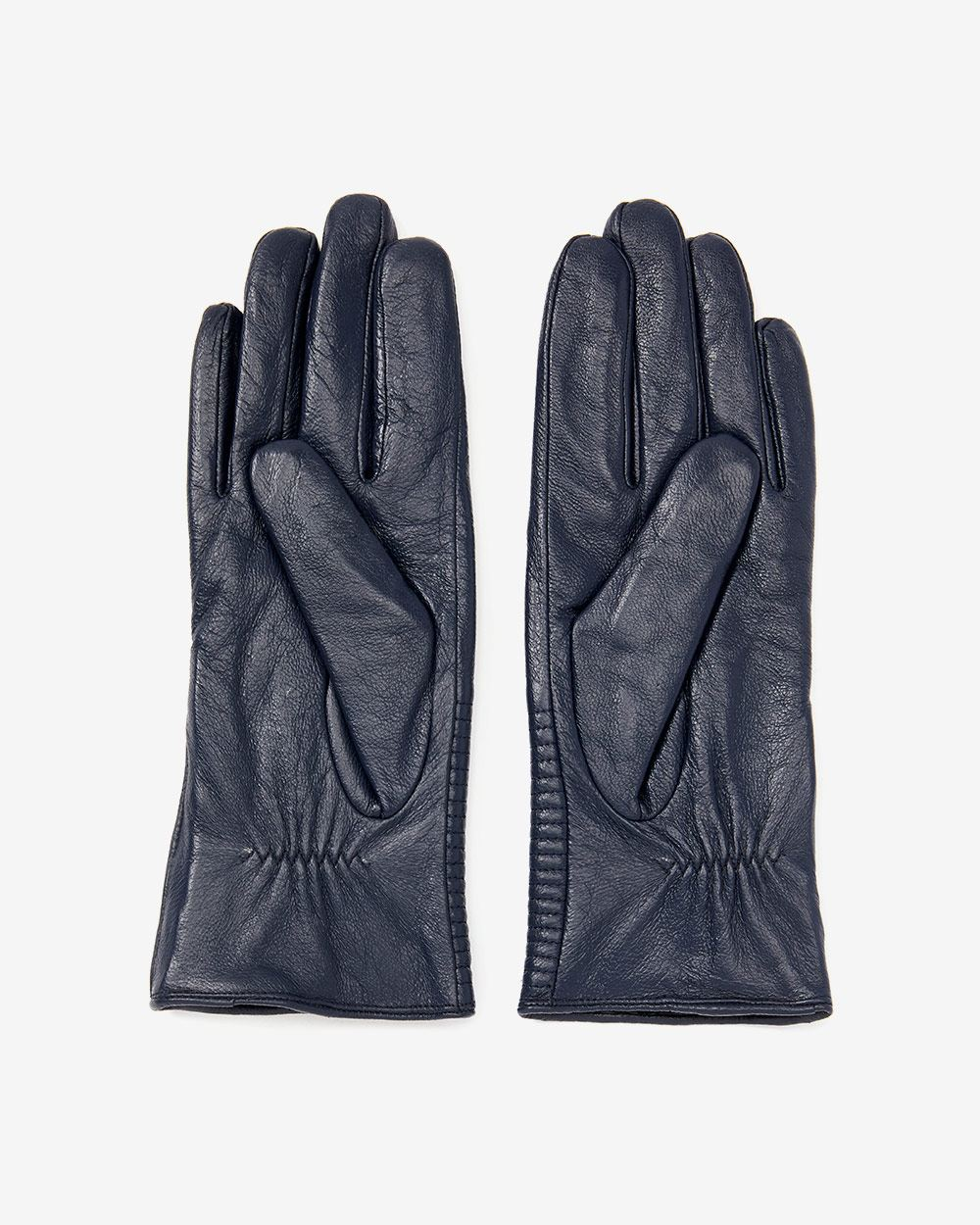 Leather Gloves with Zip