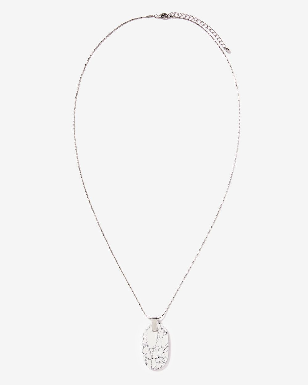 Marble Stop Pendant Necklace